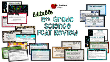 EDITABLE 5th Grade FCAT REVIEW PowerPoint- ALL STANDARDS