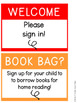 Classroom Sign Templates | 5X7 Clear Inserts | EDITABLE