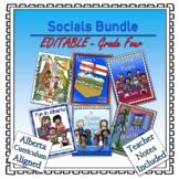 EDITABLE- A Year of Grade 4 Social Studies Lapbooks Bundle