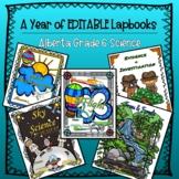 EDITABLE- A Year of Grade 6 Science Lapbooks Bundle