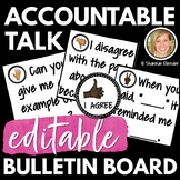EDITABLE ACCOUNTABLE TALK STEM POSTERS, BULLETIN BOARD