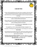 ANXIETY FRUSTRATION SOCIAL STORY IEP GOAL AND DATA SHEET - EDITABLE