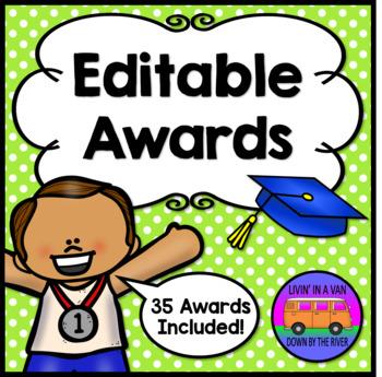 EDITABLE AWARDS