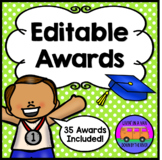 EDITABLE AWARDS