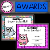 Owl Editable End of the Year Awards