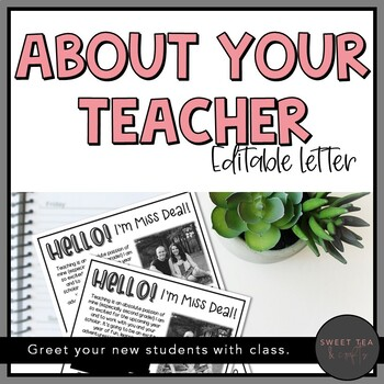 EDITABLE About Your Teacher Letter