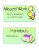 EDITABLE Absent Student Work Folder Labels