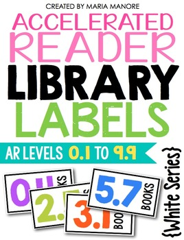 EDITABLE Accelerated Reader Library Labels {White Series)