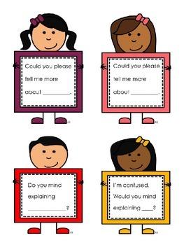 EDITABLE Accountable Talk Conversation Cards