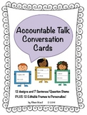 EDITABLE Accountable Talk Conversation Cards