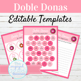 EDITABLE Activity Template Doble Donas
