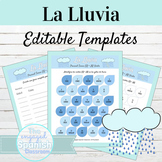 EDITABLE Activity Template La Lluvia
