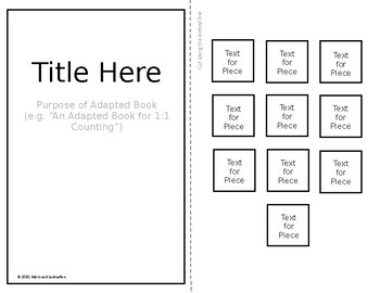 EDITABLE Adapted Books Template!