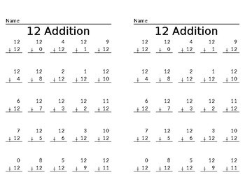 EDITABLE Addition Fact Practice Worksheets or Tests