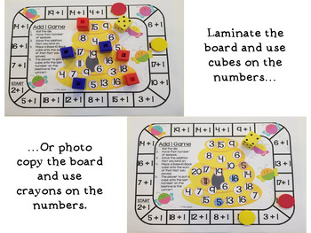 EDITABLE Addition Game Boards