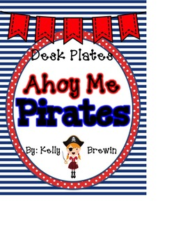 {EDITABLE} Ahoy Me Pirates Name Plates