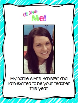 EDITABLE All About My Teacher Book with Student Template