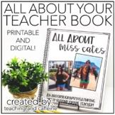 EDITABLE All About Your Teacher Book | Digital | Printable