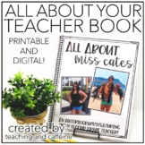 EDITABLE All About Your Teacher Book