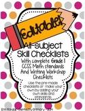 EDITABLE All-Skills Grading and Record Keeping Checklists (Grade 1)