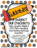 EDITABLE All-Skills Grading and Record Keeping Checklists (Grade 2)