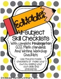 EDITABLE All-Skills Grading and Record Keeping Checklists (Kindergarten)