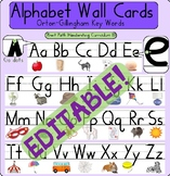 EDITABLE Alphabet Wall Cards: Orton-Gillingham Keywords