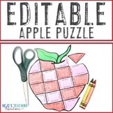 EDITABLE Apple Puzzle: Make an Apple Life Cycle Activity