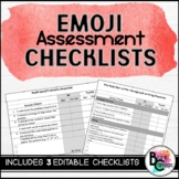 EDITABLE Assessment Checklists *Student, Peer, Teacher*