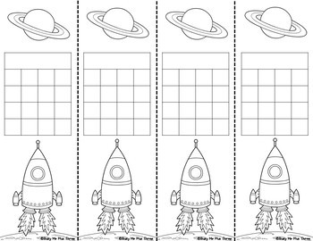 EDITABLE Astronaut Incentive Sticker Charts {Blacklines Included}