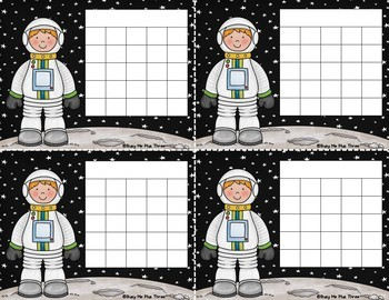Incentive Charts, Sticker Chart, EDITABLE Astronaut Theme  {Blacklines Included}