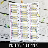 EDITABLE Avery 8920 (and compatible) Sticker Labels