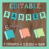 EDITABLE BANNERS - 7 Colors - 3 Sizes - 3 Themes - Class D