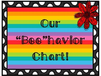 EDITABLE BEE Theme Clip Chart Behavior Management System Sign Poster