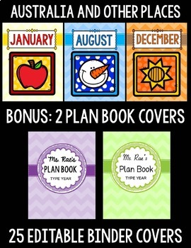 EDITABLE BINDER COVERS: MONTHLY