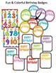 EDITABLE BIRTHDAY CENTER - RAINBOW BRIGHT CLASSROOM