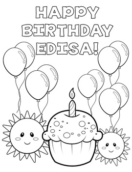 BIRTHDAY BOOK - EDITABLE COLORING SHEETS!