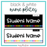 EDITABLE BLACK AND WHITE NAME PLATES