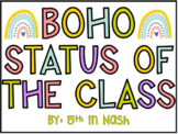 EDITABLE | BOHO Reading Status & Status of the Class | Google Slides