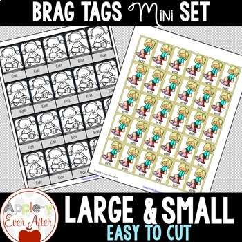 EDITABLE BRAG TAGS Set - Flexible Seating