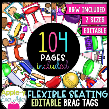 EDITABLE BRAG TAGS Set - Flexible Seating