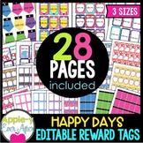 Editable Reward Tags