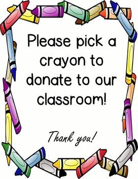 EDITABLE BTS/Meet and Greet Teacher Wish List-Crayons