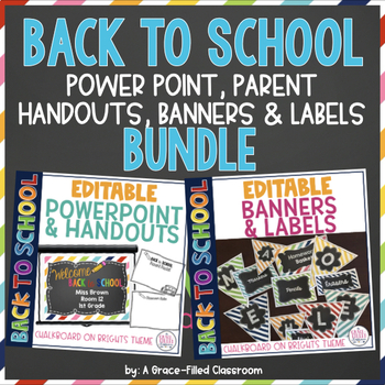 EDITABLE BTS: PowerPoint, Handouts, Banners and Labels (BUNDLE)