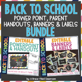 EDITABLE PowerPoint, Handouts, Banners and Labels (BUNDLE)