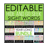 EDITABLE BUNDLE - Hide and Seek Sight Words