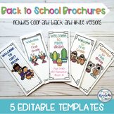 EDITABLE Back To School Brochure Template (5 different designs)