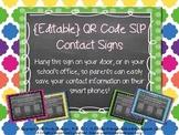 {EDITABLE} Back To School QR Code SLP Contact Sign
