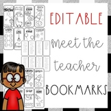 EDITABLE Back to School Bookmark Activity {Back to School • Meet the Teacher}