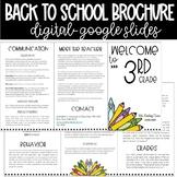 EDITABLE Back to School Brochure